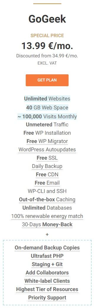 Avada hosting gogeek